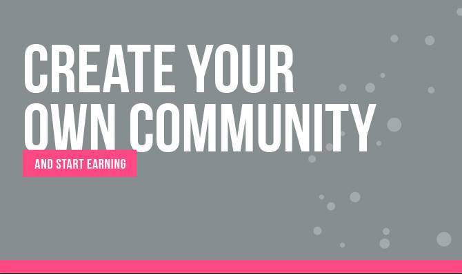 affiliate program - create your own community