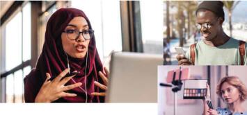 Woman using TheONE Webinar
