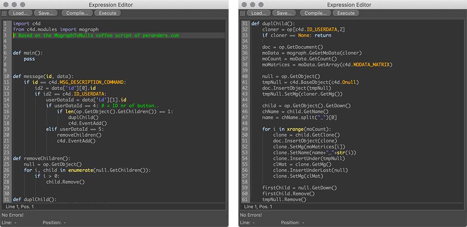 MographToNulls for C4D R20 – Free Download Python Script Tag