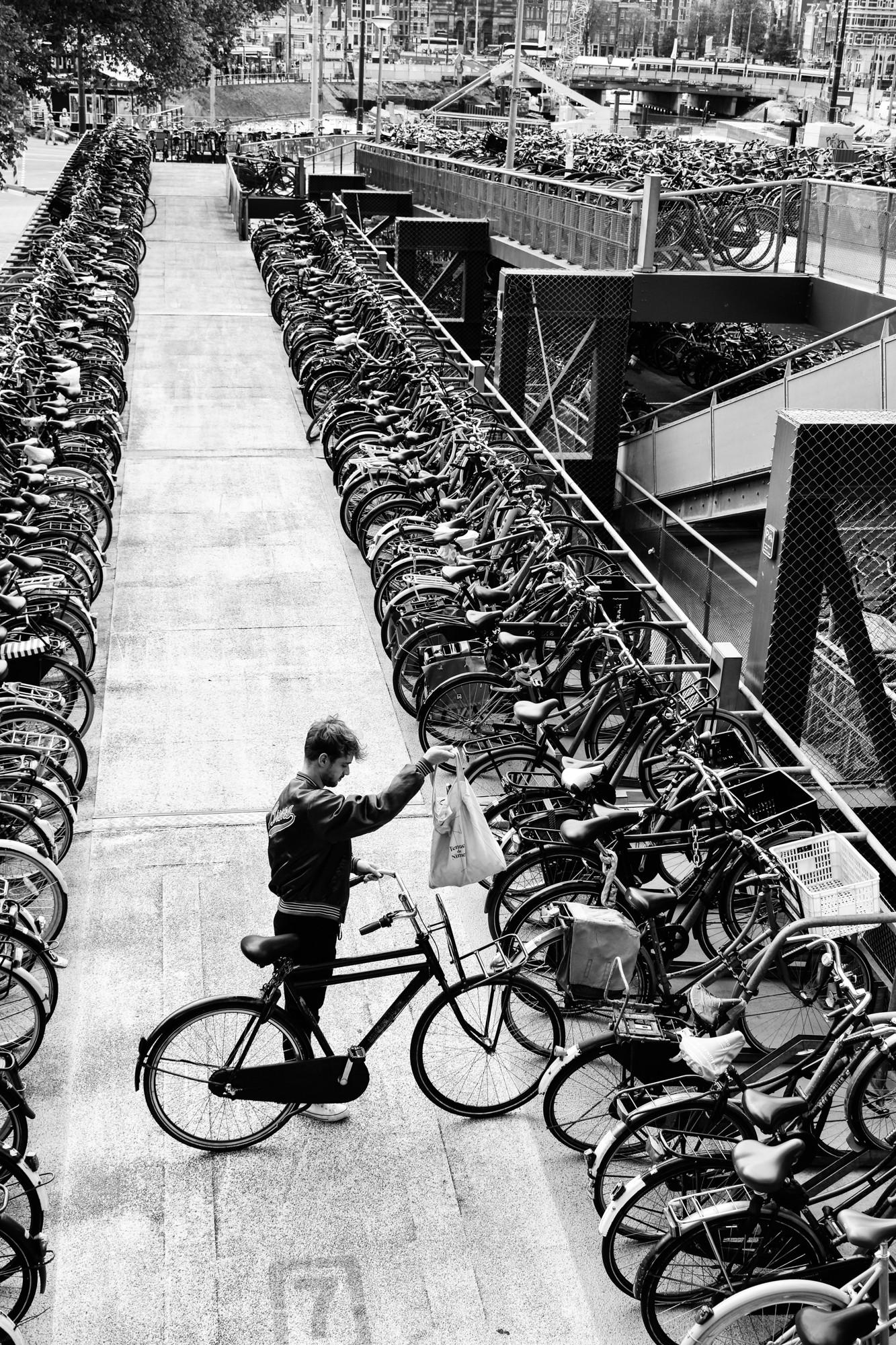Bike parking Amsterdam central station