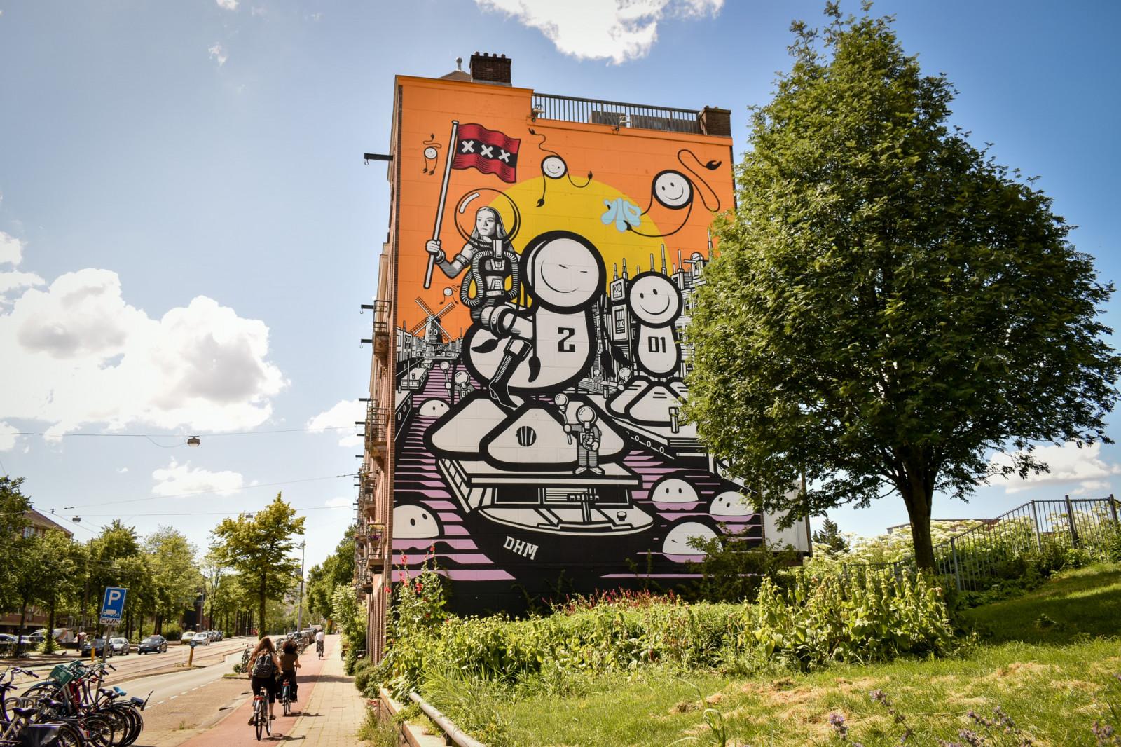 Big wall paintings in Amsterdam