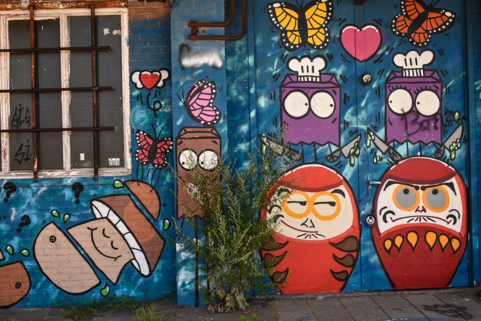 Cool urban street art in Amsterdam