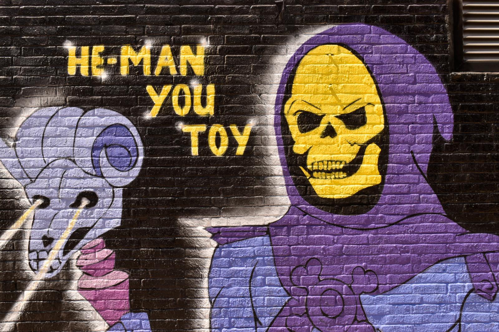 He-man you toy graffiti street art Amsterdam