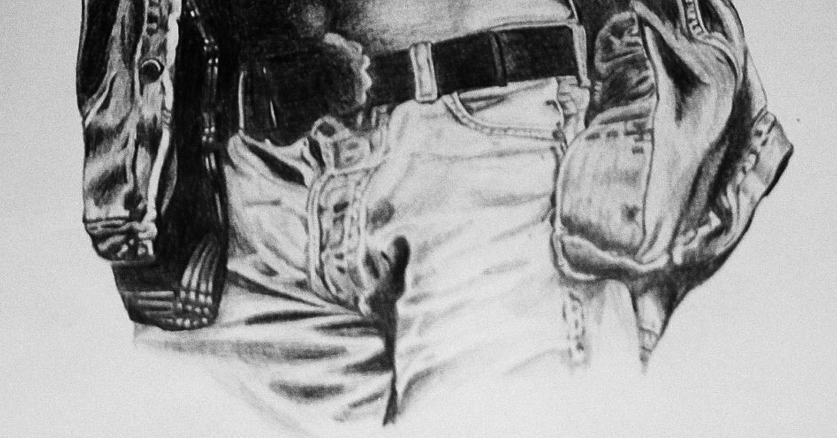 levi-jeans-with-belt-black-and-white-pencil