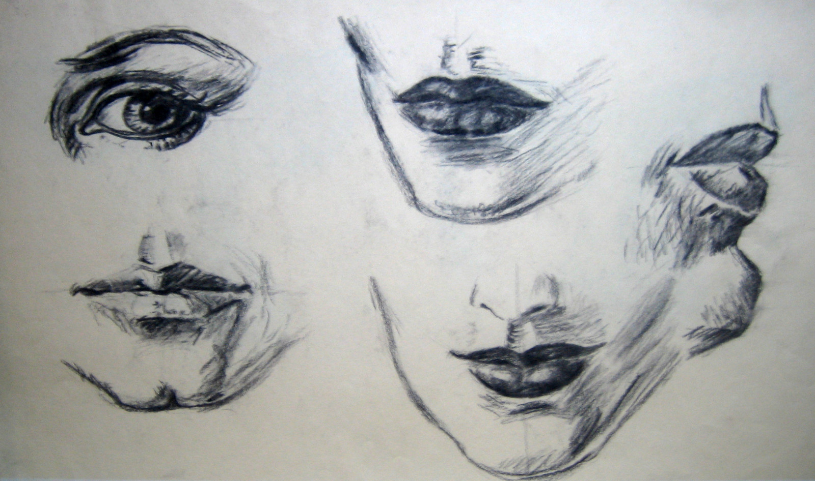practise-mouth-drawing-with-coal