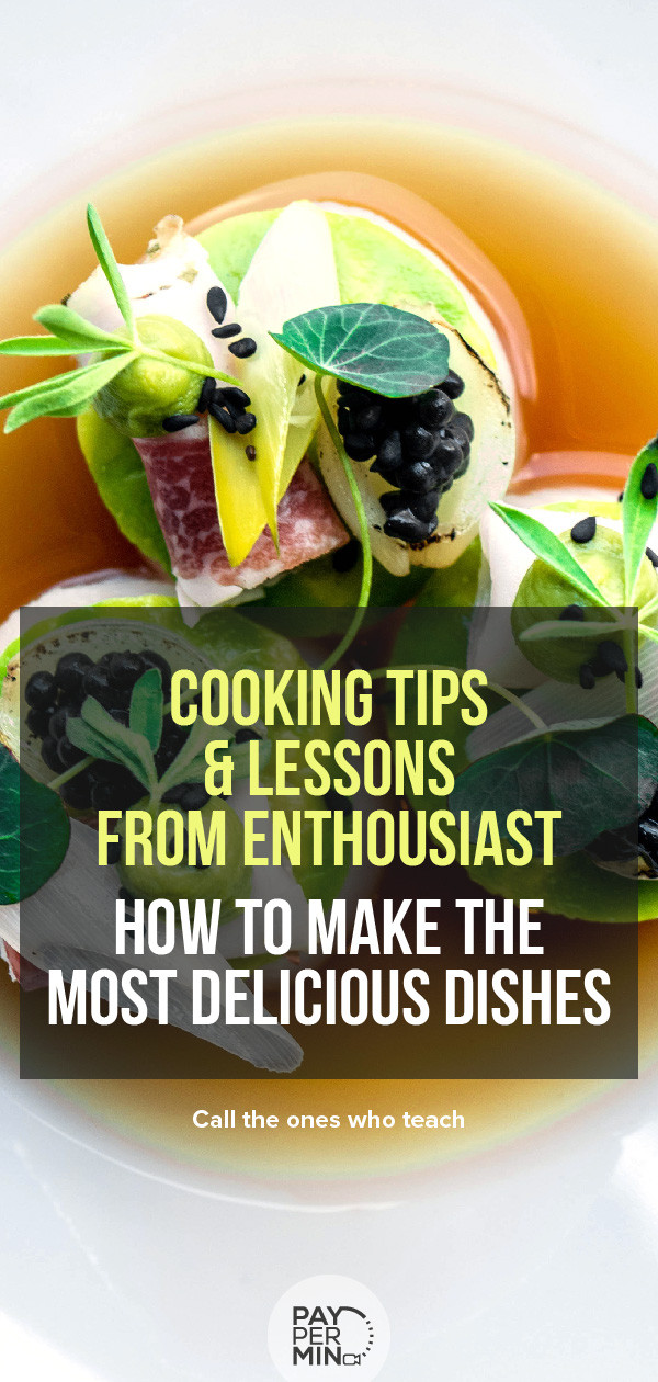 Cooking tips and lessons