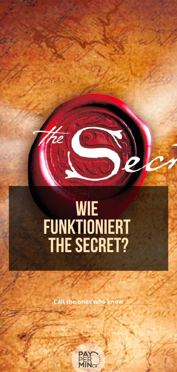 Wie funktioniert The Secret?